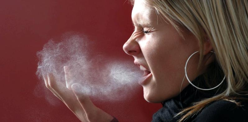 Tröpfcheninfektion als Bronchitis-Ursache
