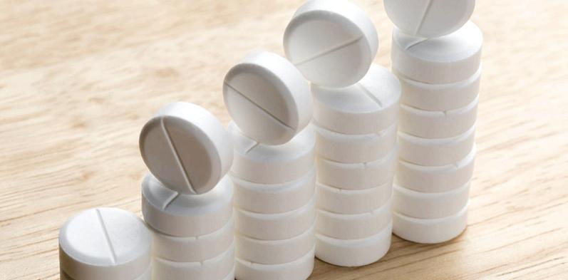 Tabletten mit Acetylsalicylsäure