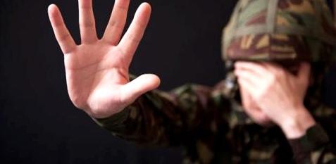 Soldat mit posttraumatischer Belastungsstörung