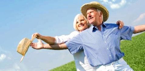 Mann und Frau üben Gleichgewicht