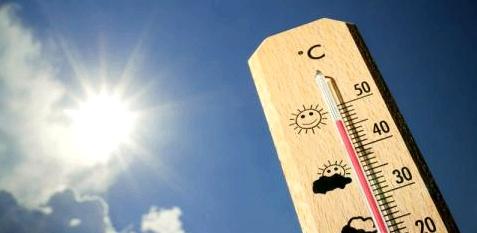 Thermometer vor Sonne