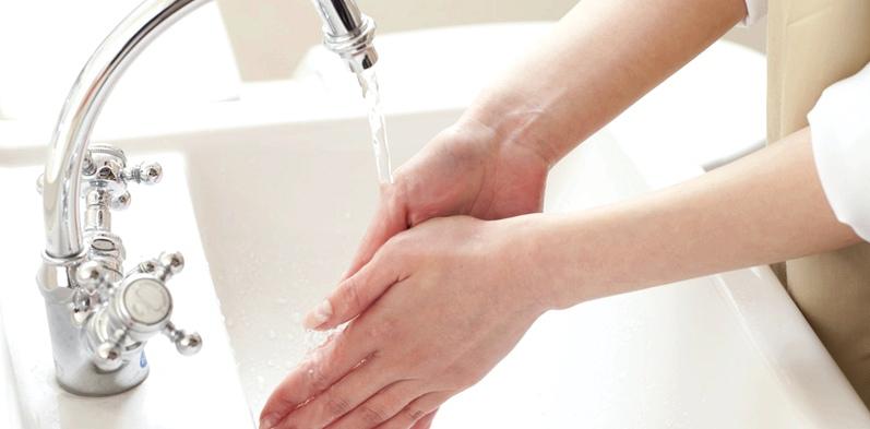 Während einer Grippewelle schützt regelmäßiges Händewaschen vor einer möglichen Infektion