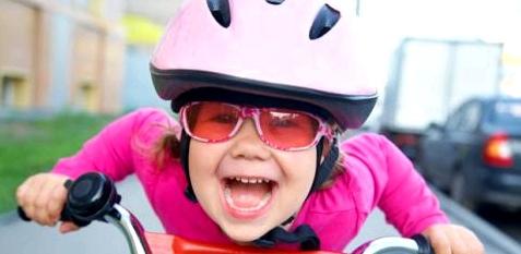 Fahrradhelme schützen