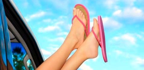 Im Sommer kann man keine Reibeisenhaut an den Füßen gebrauchen