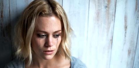Frau mit Depressionen