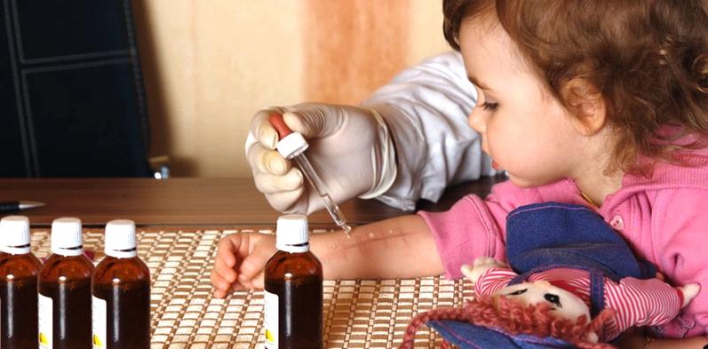 Allergietest beim Kind