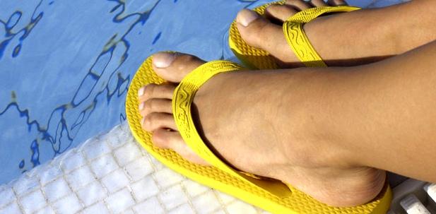 Nagelpilz-Ansteckungsgefahr Schwimmbad