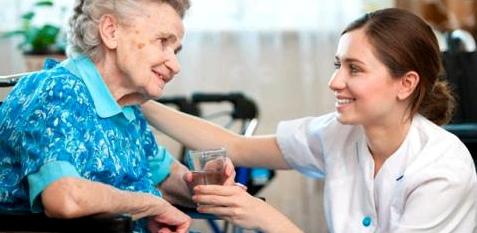 Patientin im Pflegeheim