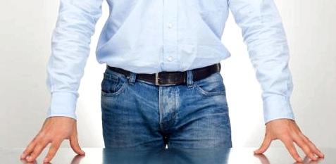 Mann mit Prostatavergrößerung