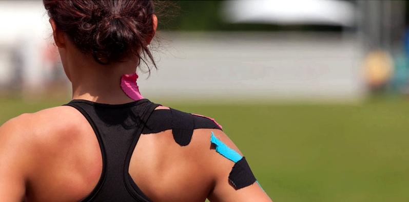 Mit getaptem Nacken kann man Sport machen