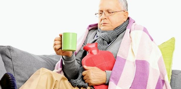 Gegen Schüttelfrost hilft eine Wärmflasche